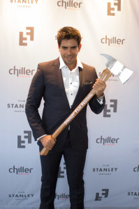 Eli Roth, winner of the Stanley Film Festival's Visionary Award. (Photo: James Dimagiba)